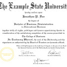 FAKE DIPLOMA TEMPLATE // D37 [OHIO STATE UNIVERSITY REPLICA]