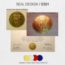 COLLEGE DEGREE SEAL DESIGN // ES01