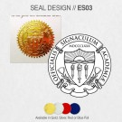 FAKE DEGREE EMBOSSED SEAL DESIGNS // ES03