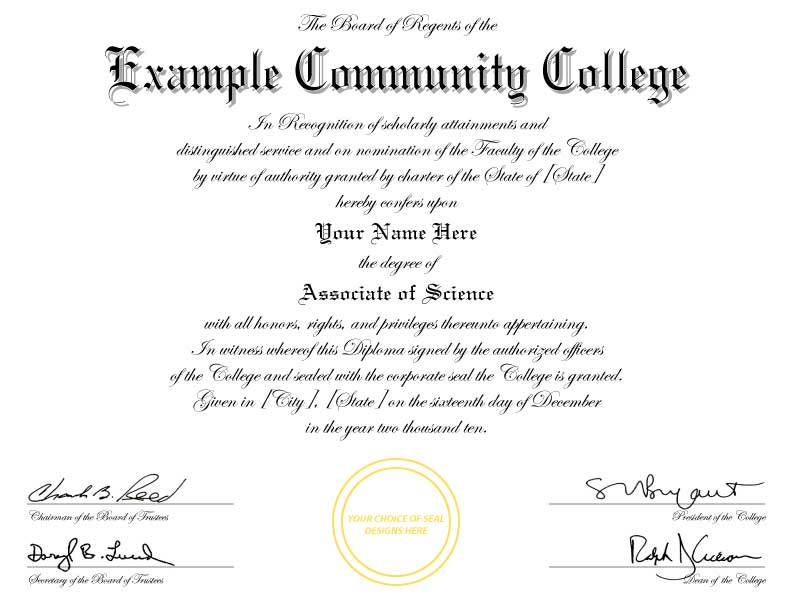buy a fake college degree online