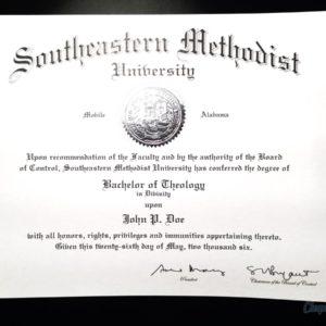 Fake Southern Methodist University Diploma