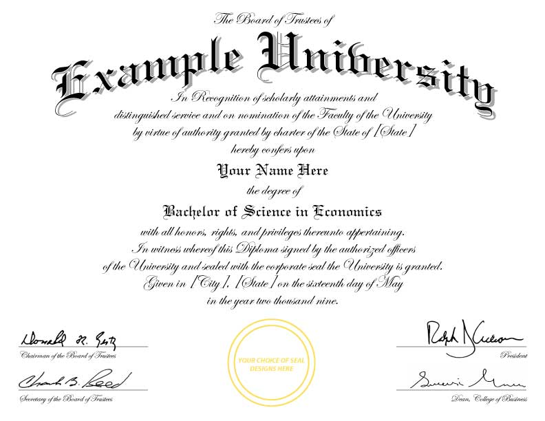 college diploma certificate template  college degree templates - Commonpence.co