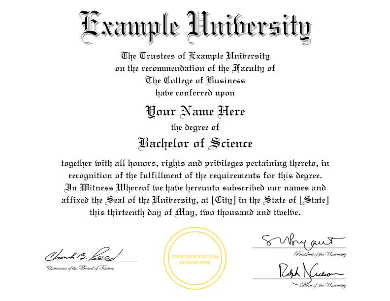 College Degree Templates Sivandearest