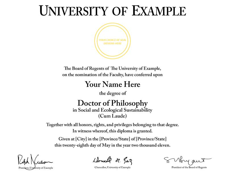 Fast Doctorate Degrees, based on Life experience. Authentic. In days