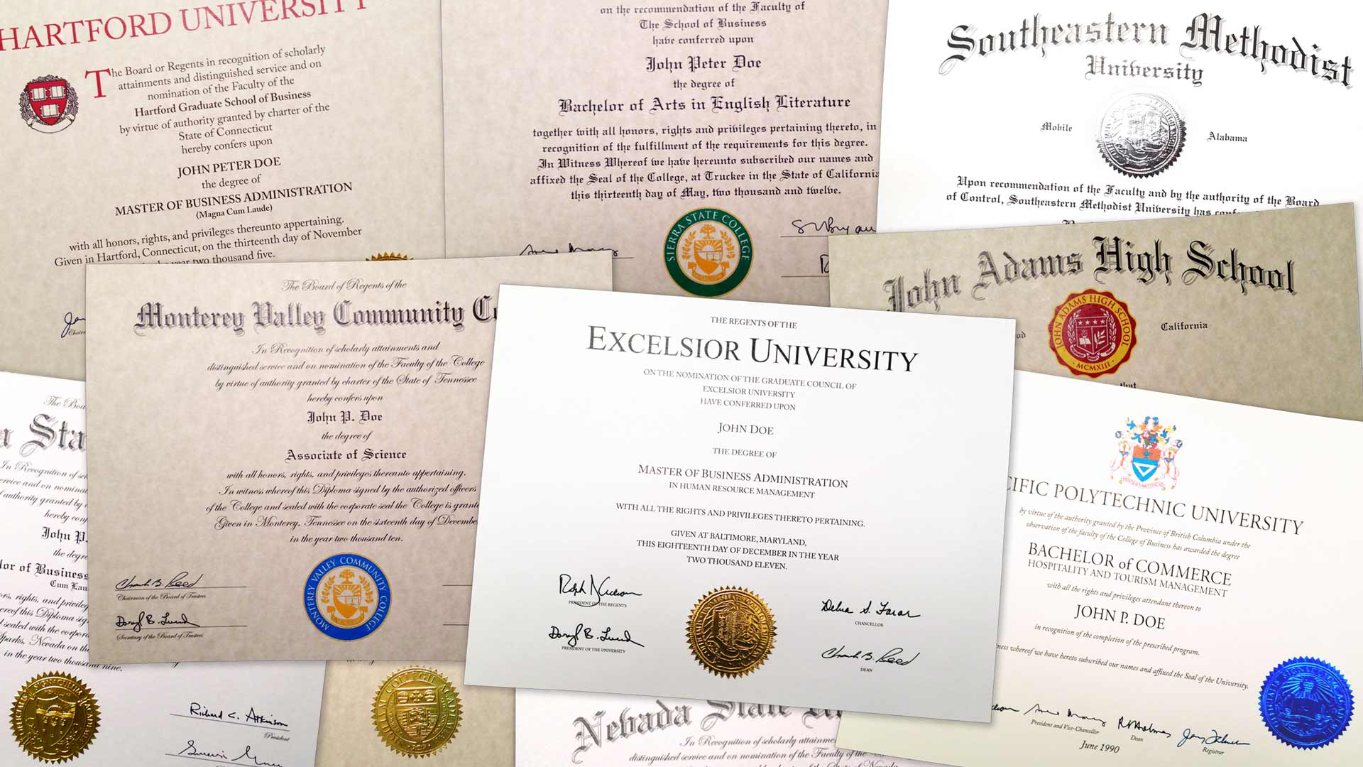 Fake College, Community College, University & High School Diplomas, Degrees & Certificates