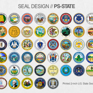 PS-STATE Fake Diploma Seal Samples