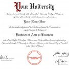 YORK UNIVERSITY FAKE DIPLOMA TEMPLATE // D31 [York University Replica]