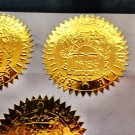 Fake Diploma Seals (ES05-GOLD)