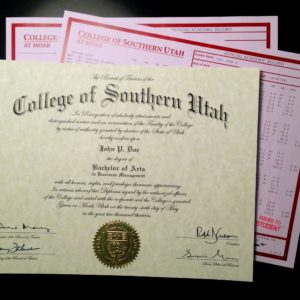 Phony Diploma & Transcripts | College of Southern Utah