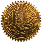 FAKE DEGREE EMBOSSED SEAL // ES02-GOLD