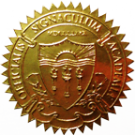 FAKE DEGREE EMBOSSED SEAL // ES03-GOLD