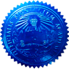 FAKE DEGREE EMBOSSED SEAL // ES04-BLUE