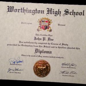 Diploma Template // HS-D01 | Seal Design // ES03-GOLD