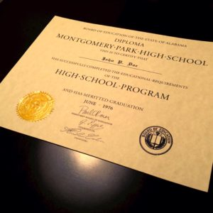 Diploma Template // HS-D05 | Seal Design // ES02-GOLD