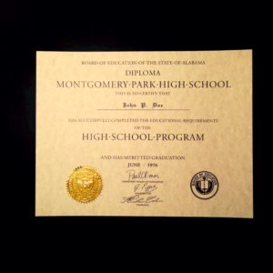 70's-Style Diploma Template // HS-D05 | Seal Design // ES02-GOLD