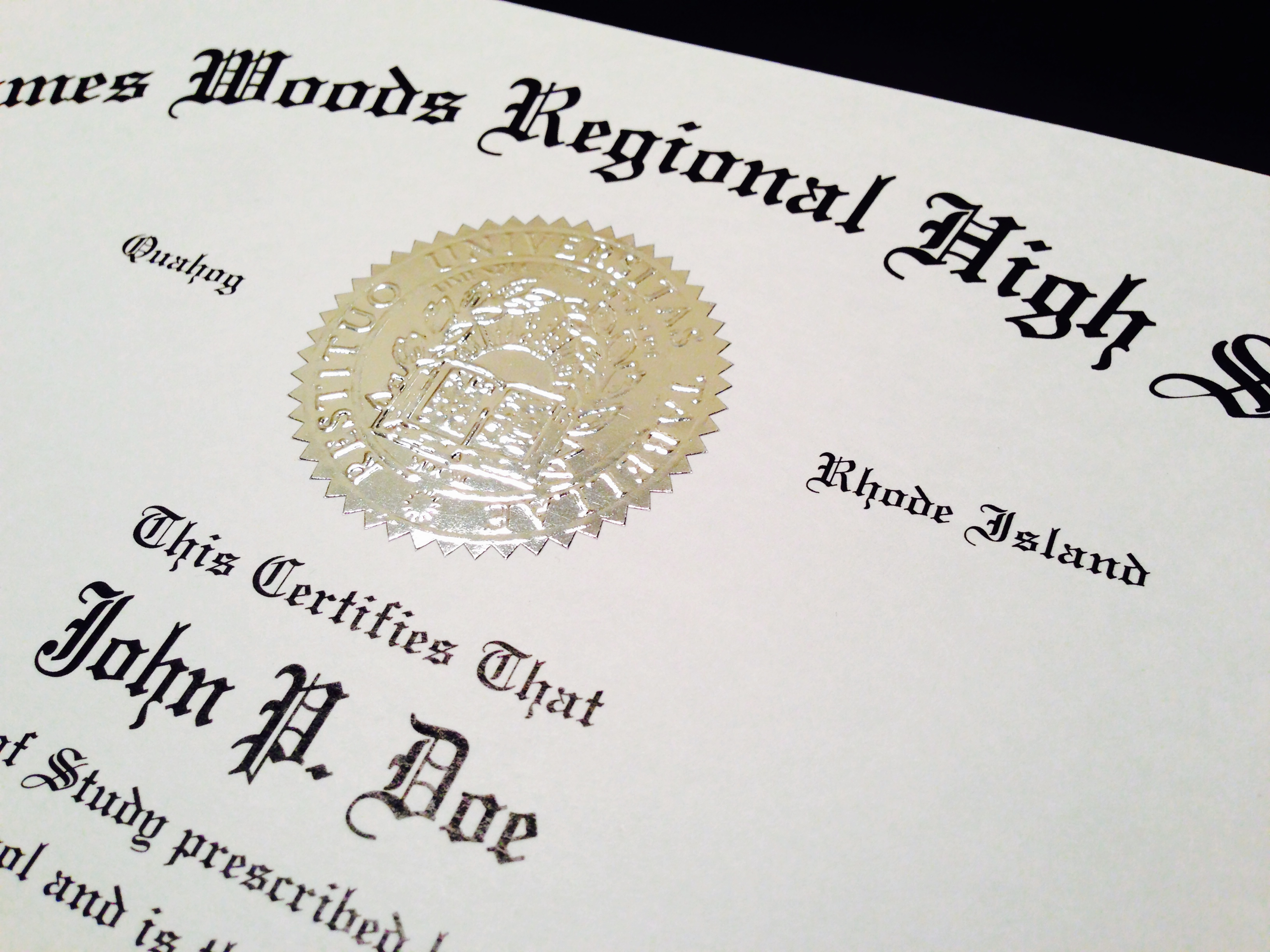 can you make a fake high school diploma