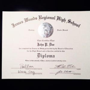 fake high school diploma sample