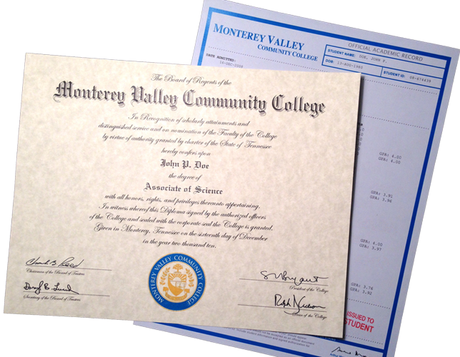fake community college degree