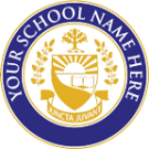 FAKE DIPLOMA SEAL DESIGN // PS03-NVYGOLD