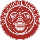 FAKE DIPLOMA SEAL DESIGN // PS04-MAROON