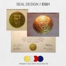 COLLEGE DEGREE SEAL DESIGN // ES01