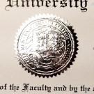FAKE UNIVERSITY OF TEXAS DIPLOMA SEAL DESIGN // ES02