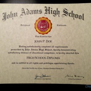 High School Diploma Template // HS-D04 | Seal Design // PS01