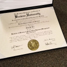 D35 Diploma Template with ES02 Gold Embossed Seal