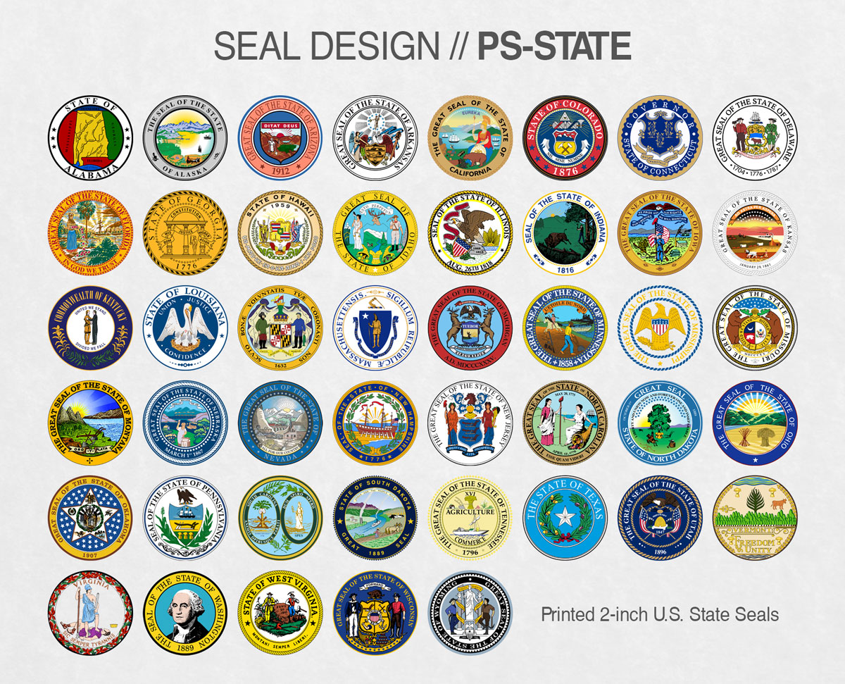 PS-STATE Fake Diploma Seal Samples