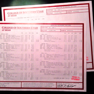 Fake University Transcript Sample | T01-RED/RED PAPER