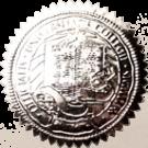 FAKE DEGREE EMBOSSED SEAL // ES02-SILVER