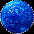 FAKE DEGREE EMBOSSED SEAL // ES04-BLUE