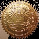 FAKE DEGREE EMBOSSED SEAL // ES04-GOLD
