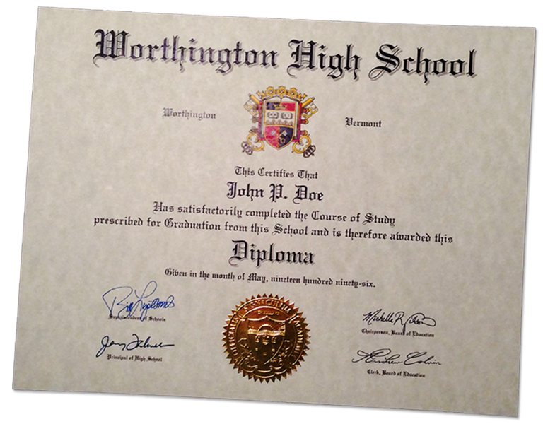 Fake high school diplomas and certificates for Free fake high school diploma templates