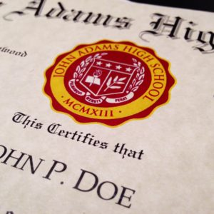 Diploma Template // HS-D04 | Seal Design // PS01