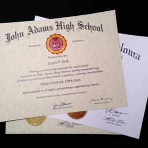 Diploma Template // HS-D04 | Seal Design // PS01