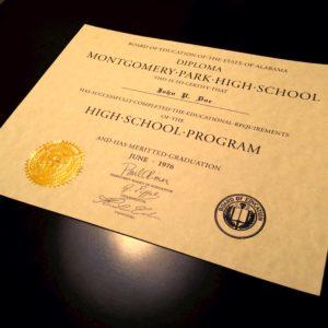 Diploma Template // HS-D05 | Seal Design // ES04-GOLD