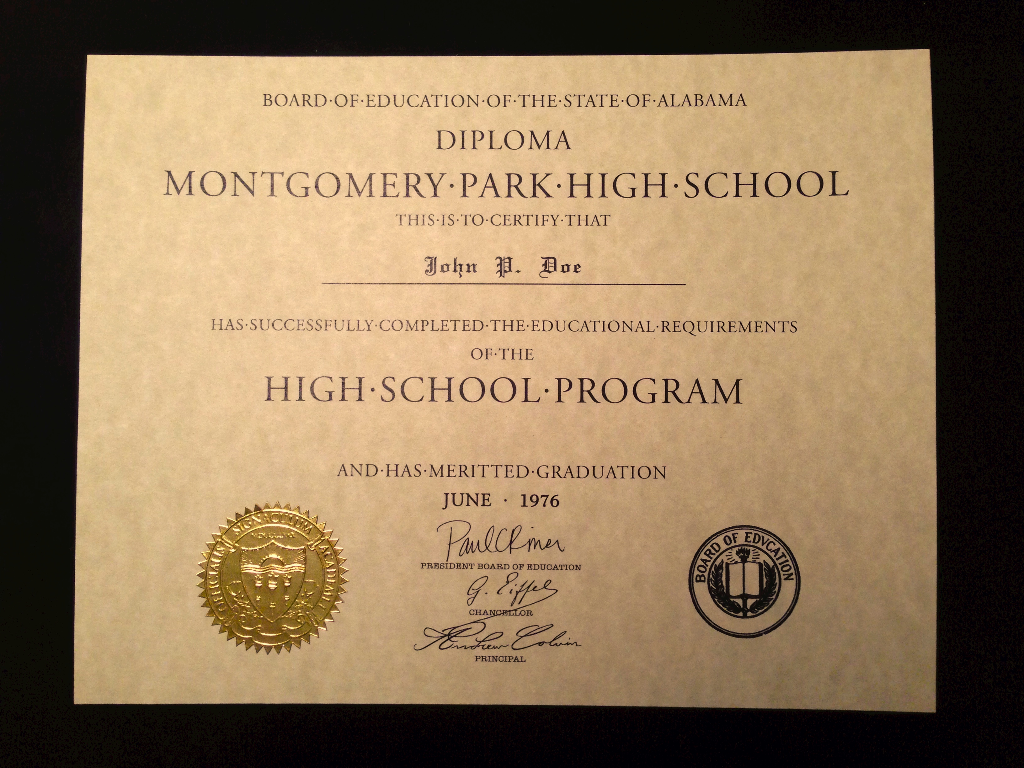 Buy a fake high school diploma online diploma template hs d05 seal design es04 gold 1betcityfo Images