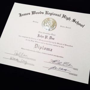 a custom fake high school diploma