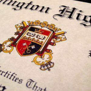 Fake High School Diploma Seal Design Detail
