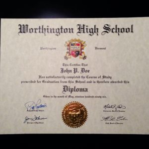 Fake Diploma Template // HS-D01 | Seal Design // ES04-GOLD
