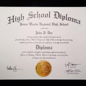 Fake Diploma Template // HS-D02 | Seal Design // ES03-GOLD