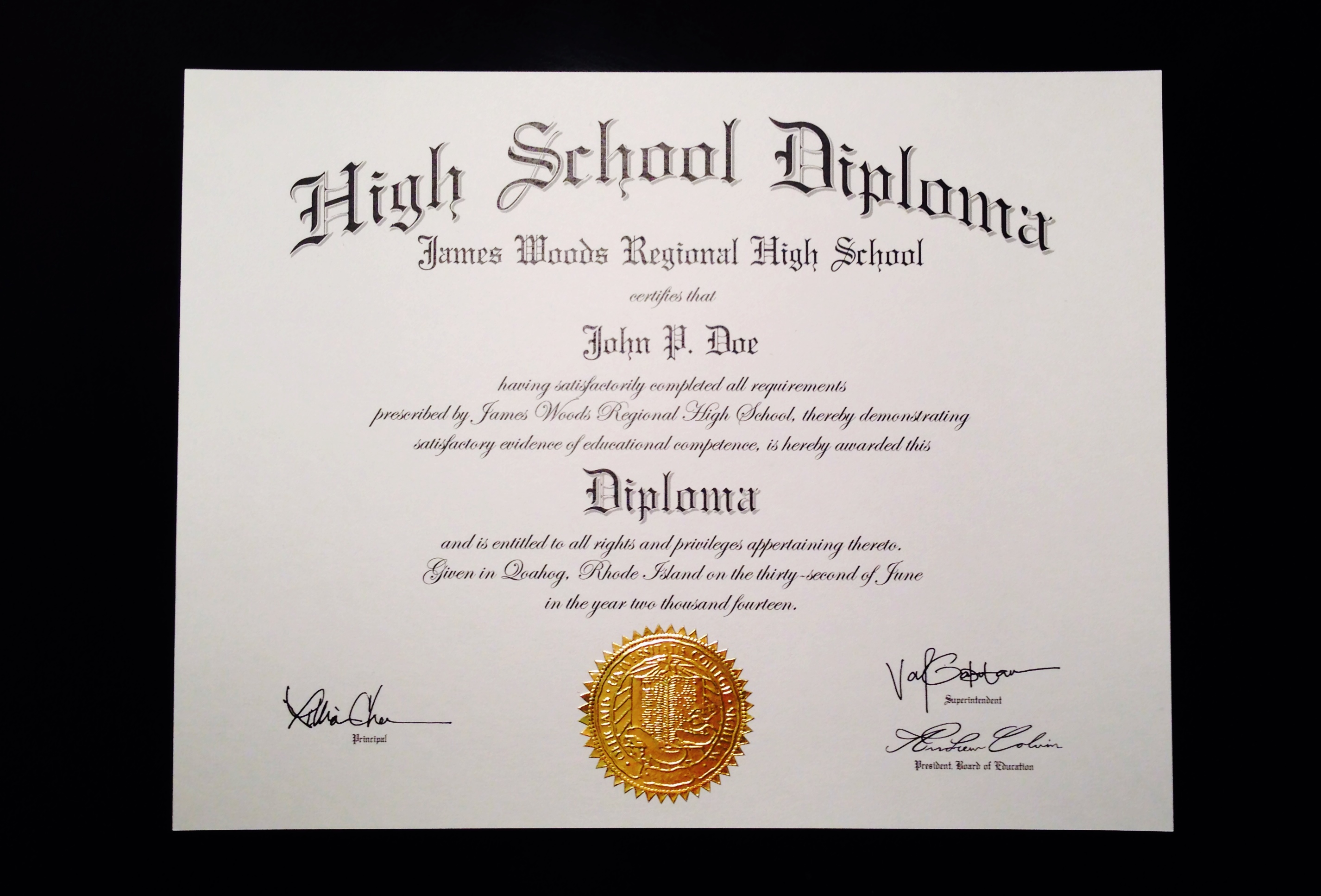 fake high school diploma online