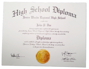 HS-D02 // Fake High School Diploma Template