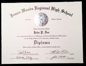 HS-D03 // Phony High School Diploma Template