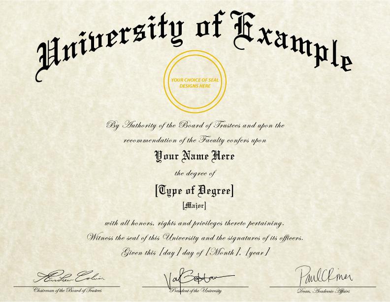Fake Diploma Template // D-05