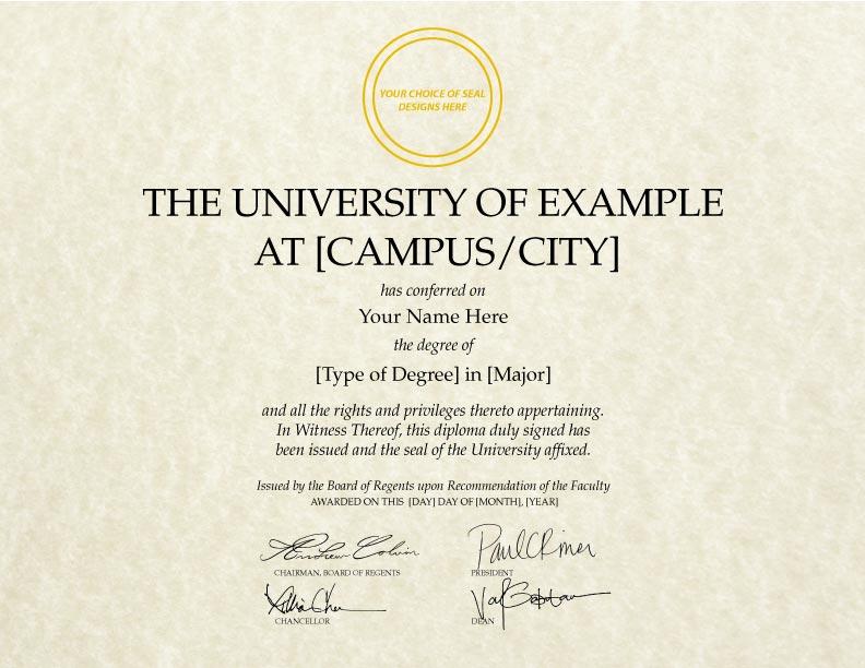 Fake Diploma Template // D-09