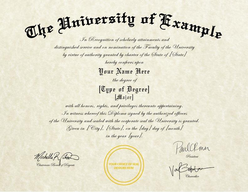 Fake Diploma Template // D-12