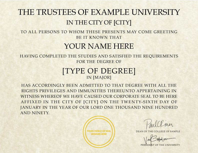 Fake Diploma Template // D-15