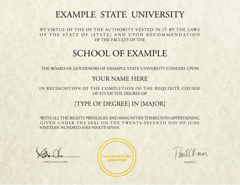 Fake Diploma Template // D-16